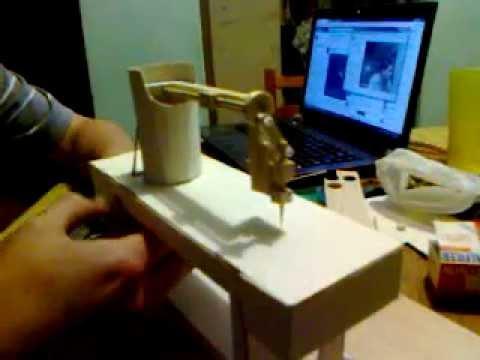 Maqueta maquina de coser con movimiento mecanico - YouTube