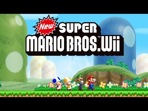 New Super Mario Bros. Wii Worlds 1 - 9 Full Game (100%)