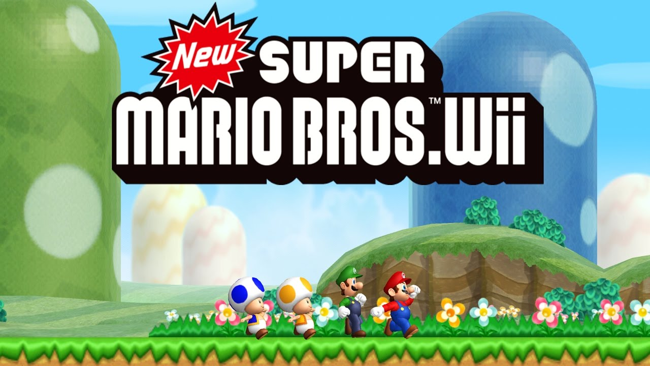 New Super Mario Bros Wii Worlds 1 9 Full Game 100 Youtube