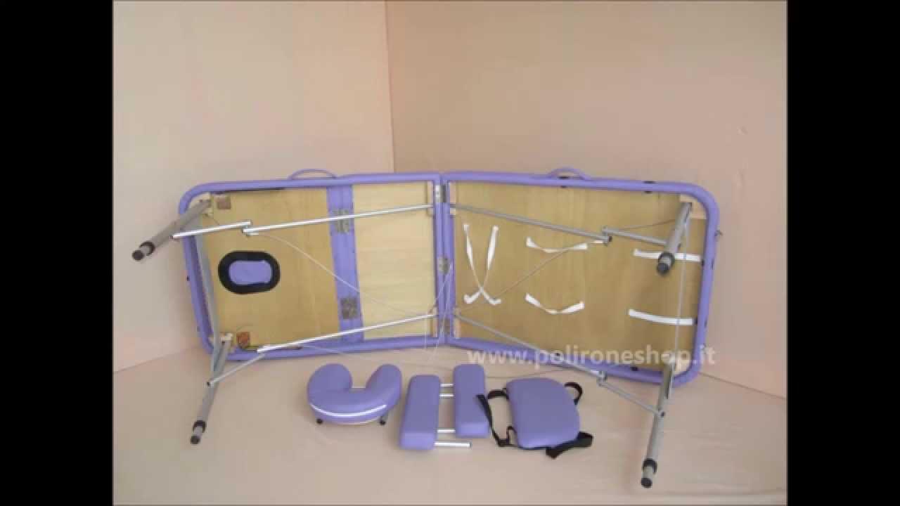 Lettino Massaggio Pieghevole Alluminio.Lettino Pieghevole E Portatile In Alluminio By Floreo Polirone Shop