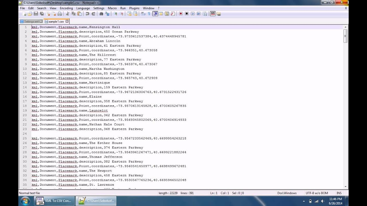 How To Use KML To CSV Converter Software