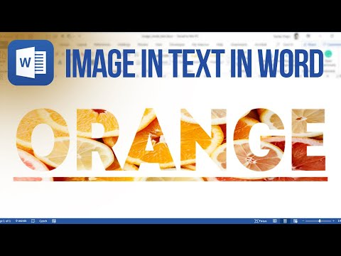 How to put image inside text in Microsoft Word (Tutorial)