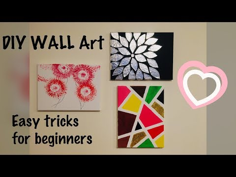 3 DIY Wall Art Ideas | Canvas Painting | Easy Techniques for Beginners