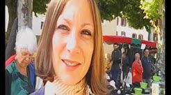 Lucia Bendick en dédicace sur le marché de Ste Croix