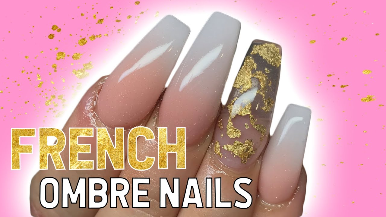 French ombre coffin nails tutorial | VOICEOVER - The Beauty Adventure