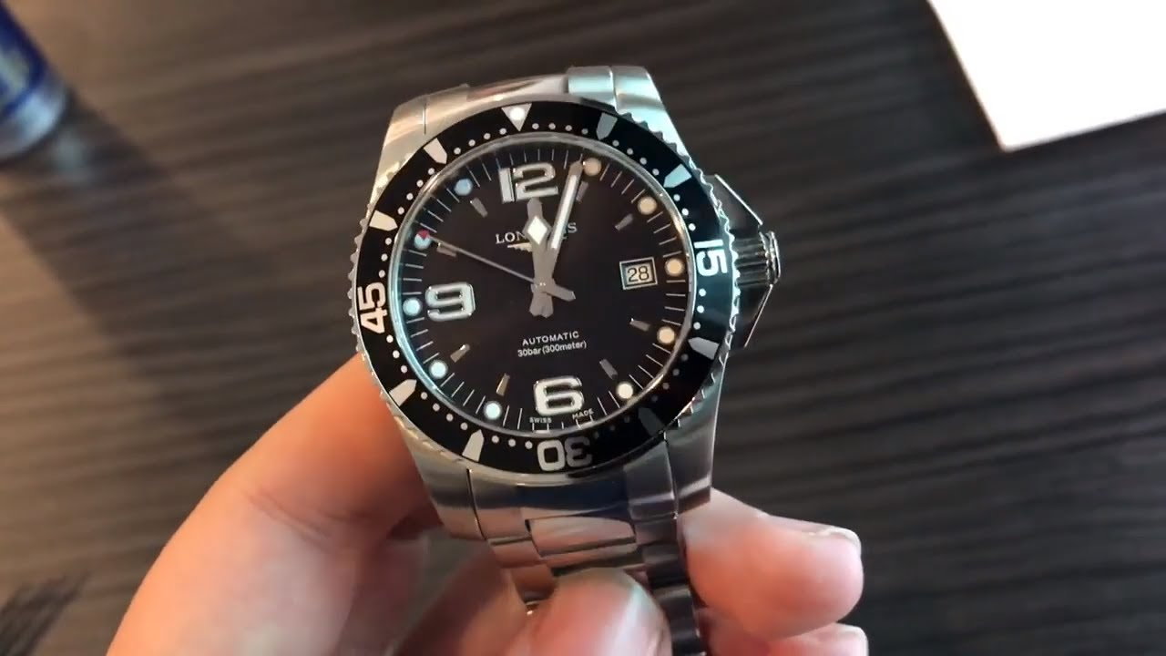 Longines Hydroconquest Automatic >> Longines Hydroconquest 41mm Automatic Unboxing Overview