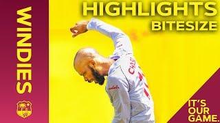 Windies vs India 1st Test Day 3 2019 | Bitesize Highlights