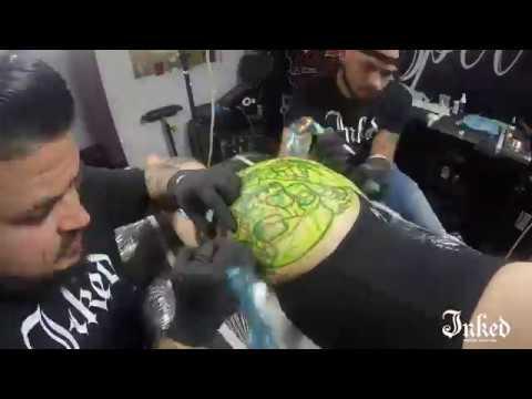 2 tattoo artists 1 butt - Inked