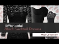 10 Wonderful Black Cocktail Dresses Midi Collection