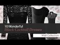 10 Wonderful Black Cocktail Dresses Midi Collection