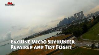 Eachine Micro Skyhunter RC Airplane  repaired and test flight