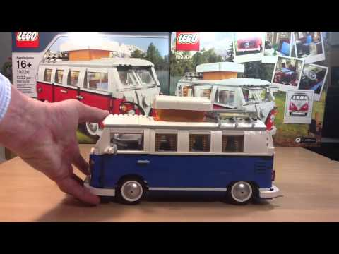 lego vw bus 10220 in blau blue youtube. Black Bedroom Furniture Sets. Home Design Ideas
