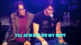 Darren Criss ft.Michelle Chamuel (USHER PHARRELLprotege/TheVoice2013)-LYRICS- Not Alone (REMASTERED)