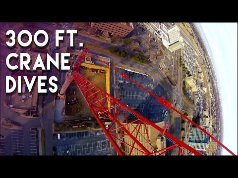 300 ft  crane dives