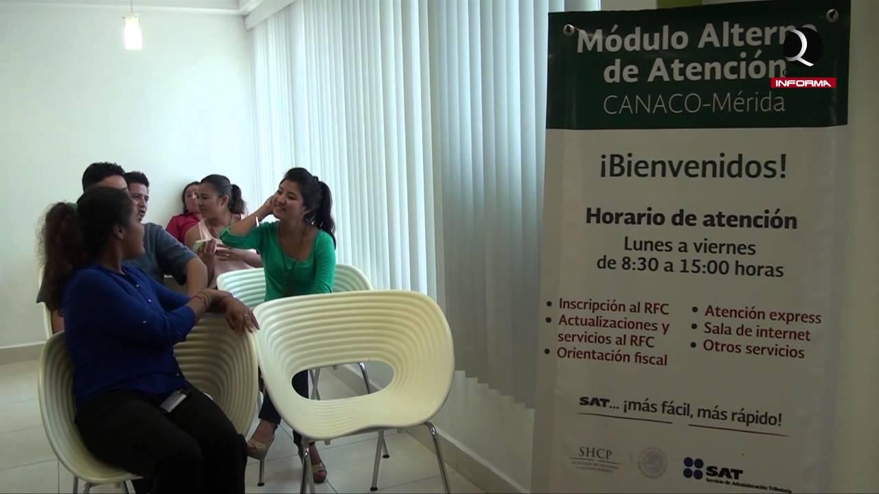 Inauguran Modulo De Atencion A Contribuyentes Del Sat En La Canaco Servitur