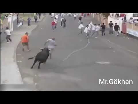 Dünyanın En Komik Ve Ilginç Boğa Saldırıları #Efsane