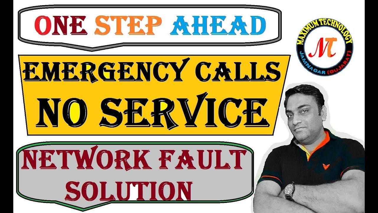 how to fix emergency calls only