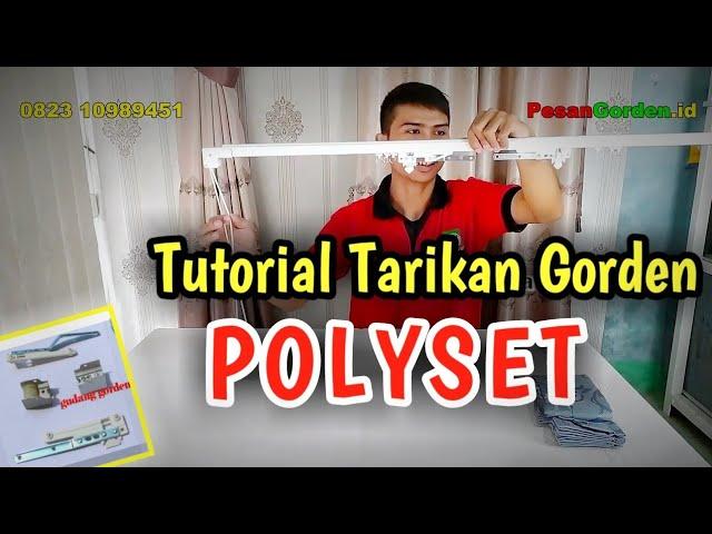 Tutorial Pasang Tali Polyset | Tarikan Gorden - Polyset Curtain Installation 082310989451 #gorden