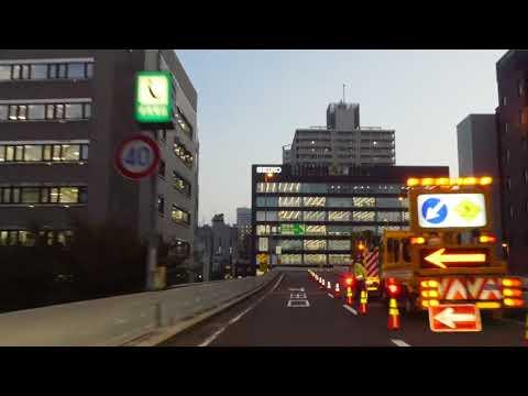 Tokyo expressway drive 4K 2017 首都高 上野 豊洲