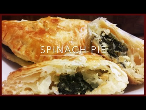 How To Make Spinach Pie |Spinach And Feta Puff Pastry Recipe | Greek Spinach Pie (Spanakopita)