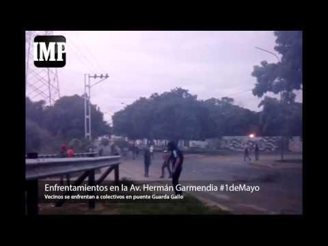 Así están los enfrentamientos en el este de Barquisimeto este #1deMayo