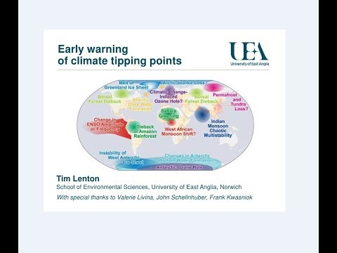 Early Warning of Climate Tipping Points: Prof Tim Lenton (Se