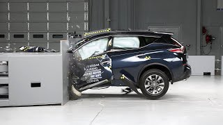 2015 Nissan Murano small overlap IIHS crash test