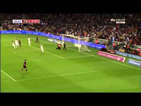 FC Barcelona vs Santos FC 8:0 Goals and Highlights (2 Aug 2013)
