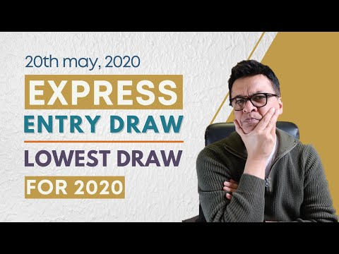 Lowest Express Entry Draw 2020 | Canadian Immigration Update
