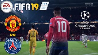 Man United vs PSG | Champions League | FIFA 19 | PS4 | gameplay | 1st leg Round of 16 @Old Trafford