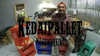 DIY : Membuat bangku krat / How To Build Wood Crates