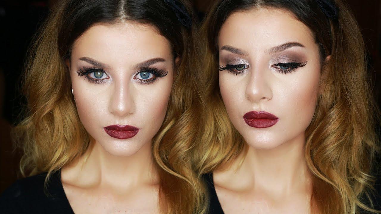 Super FALL Makeup Tutorial Trucco Occhi Marrone Luminoso e Labbra Rosse  RT07