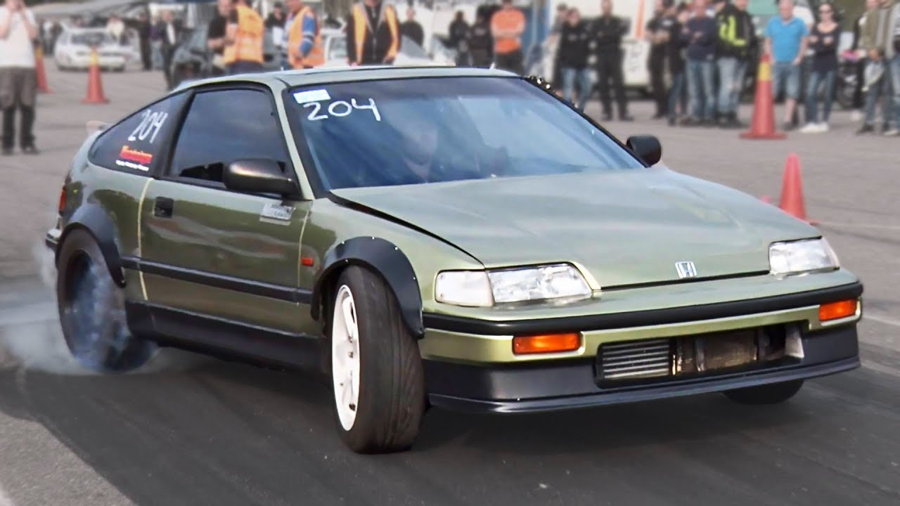 Honda Cr X >> Rear Wheel Drive Honda Crx Bmw Powered Youtube