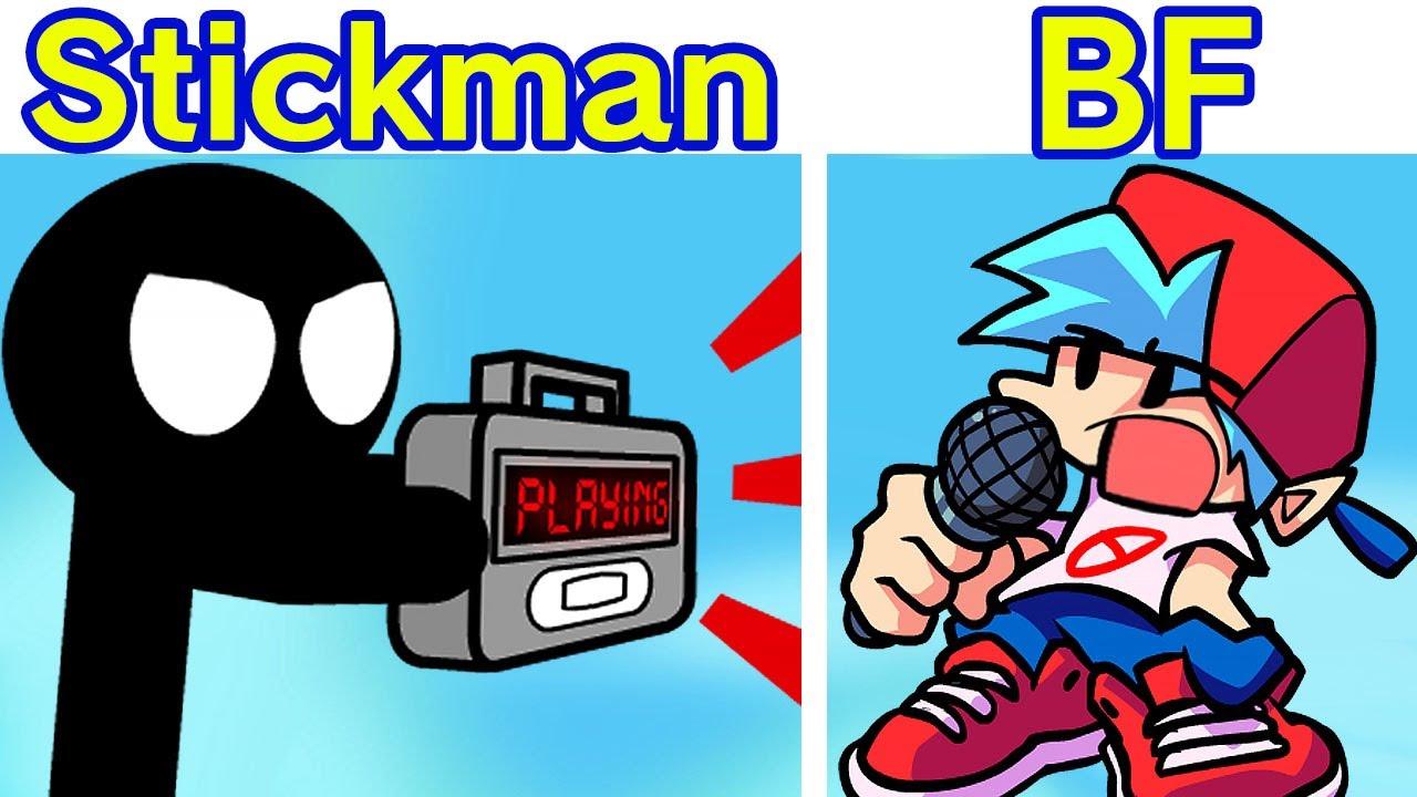Friday Night Funkin' VS Stickman Semana Completa - Stickman Animación Divertida