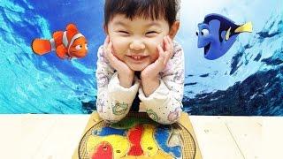 오르다 물고기 퍼즐 놀이 Orda Fish puzzle game [라임튜브]