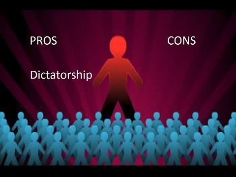 Pros and Cons of Dictatorship