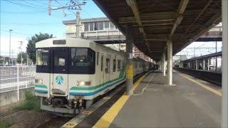 南仙台駅の3番線に停車・発車する8100系