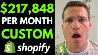 Baixar $217,848 Per Month On Shopify With Custom Products (Shopify Dropshipping 2019)