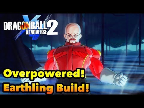 Dragon Ball Xenoverse 2 BEST OVERPOWERED EARTHLING BUILD!