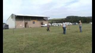 Bethan And Amber At Carmarthen Obedience Show 2009