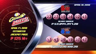 [LIVE]  PCSO 9:00PM Lotto Draw - April 16, 2019