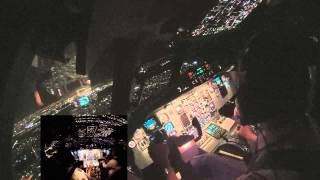 ATR 72-500 Passaredo - Night Cabin View
