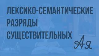 видео Лексико-семантические и тематические группы слов