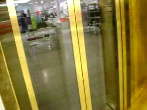 KONE Minispace traction elevators/lifts at the Stockmann department store in Helsinki.