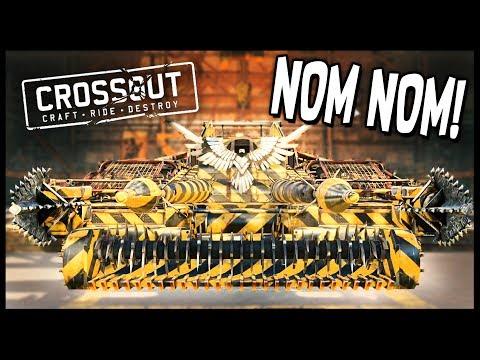 Crossout - ONE HIT KNOCKOUT! Harvester + Explosive Lance + Auger Melee Build! - Crossout Gameplay