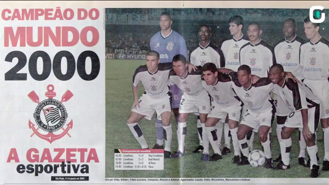 14012000 Corinthians Conquista 1º Mundial De Clubes Da Fifa
