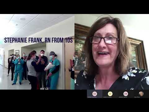 Stephanie Frank wins Patient/Clinical Care award