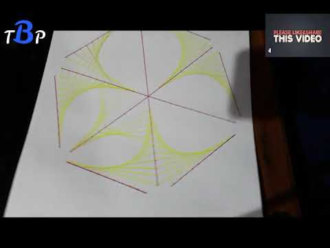 How to draw easy line Geometric Painting on Paper with sketch pen for Beginners