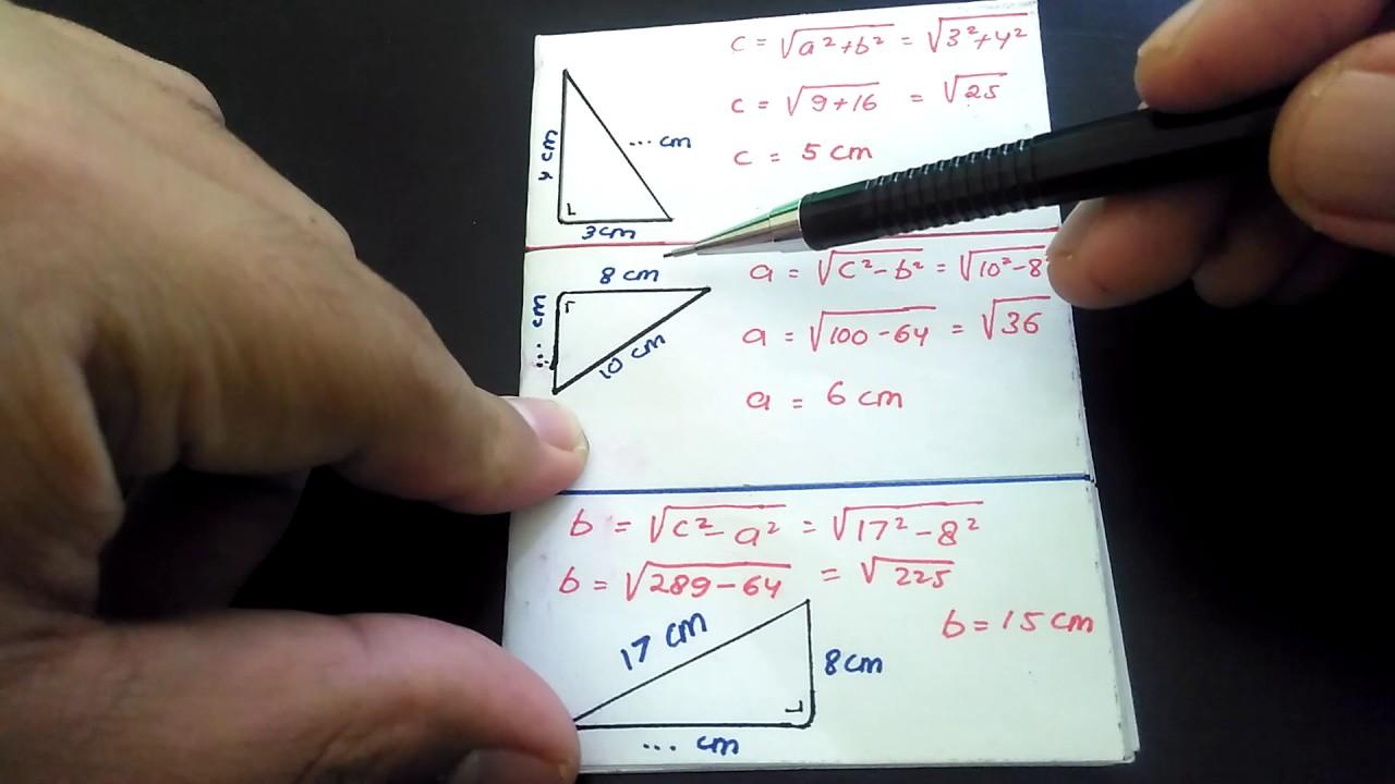 Rumus Pitagoras Teorema Phytagoras Dengan Contoh Soal