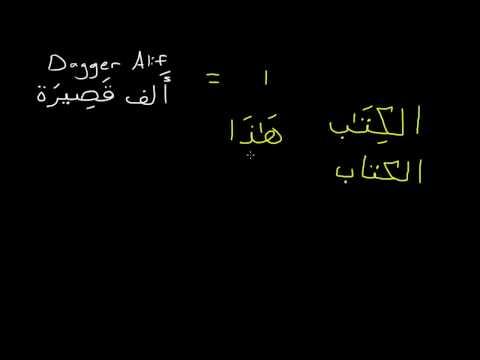 Learn the Arabic alphabet - Lesson 08 - Dagger Alif, Alif Maqsura and Alif Madda
